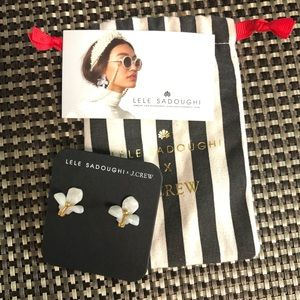 🆕Lele Sadoughi X J.Crew Trillium stud earrings